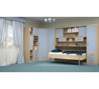 Шкаф-кровать детская в синих тонах