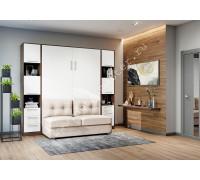"""шкаф-кровать  с диваном """"БЕЛА"""" Венге+Белый"""