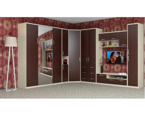 """Спальный гарнитур угловая стенка со шкаф-кроватью """"Ратмир 3"""""""